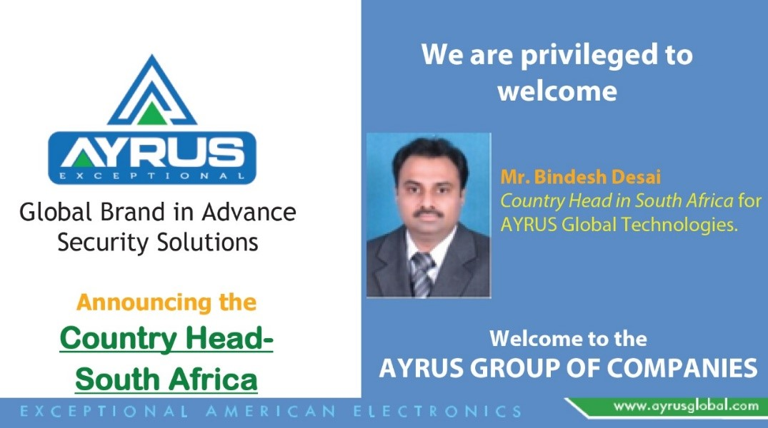 01 OCT 2020 WE HAVE STARTED OUR OPERATIONS IN SOUTH AFRICA AND APPOINTED OUR COUNTRY HEAD TO MANAGE THE AFRICA OPERATIONS.