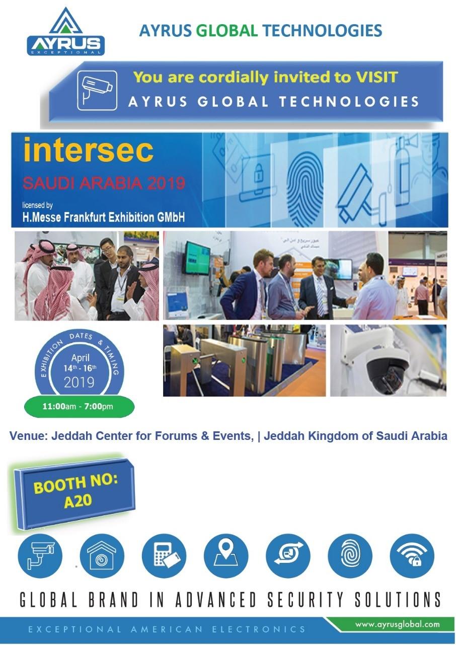 14th-16th April 2019, INTERSEC SAUDI
