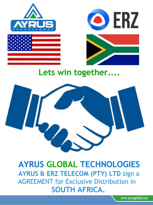 September 2020 WE HAVE SIGN UP A DISTRIBUTION AGREEMENT WITH ERZ TELECOM (PTY) LTD FOR South Africa