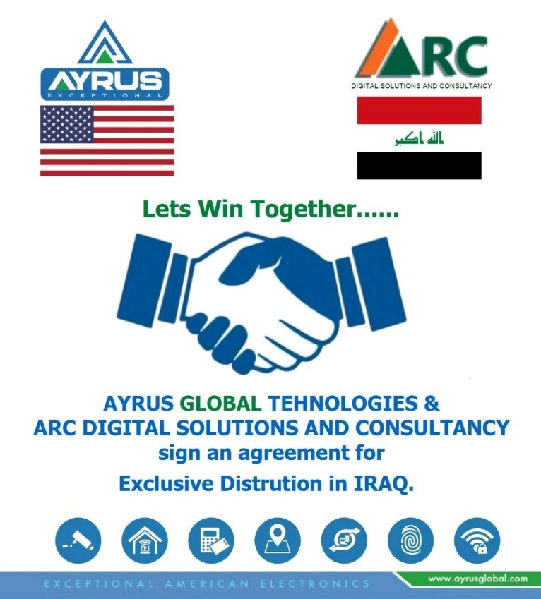 MAY 2021 WE HAVE SIGN UP A DISTRIBUTION AGREEMENT WITH ARC DIGITAL FOR IRAQ