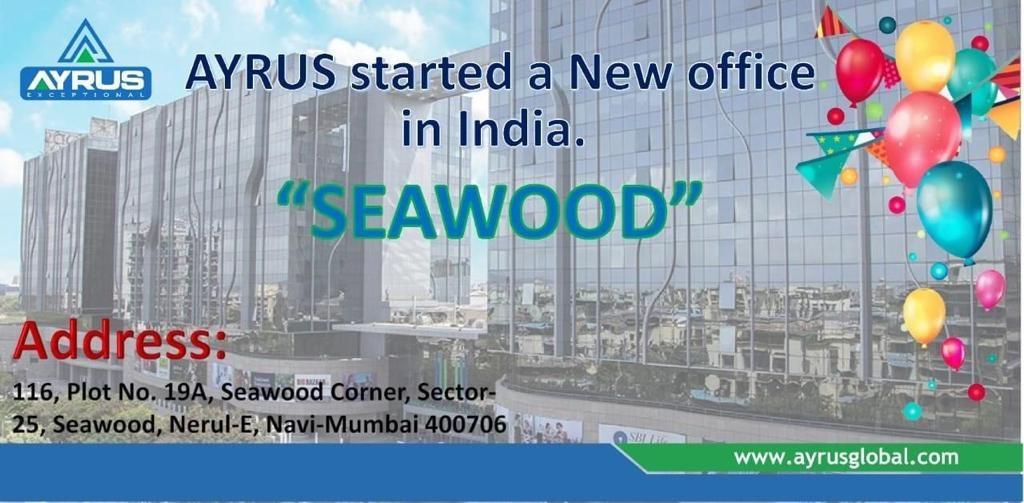 01 AUG 2019 AYRUS GLOBAL TECHNOLOGIES (I) PVT. LTD. REGISTERED IN MUMBAI INDIA.