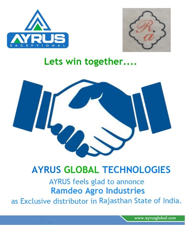 15 DEC 2019 WE HAVE STARTED OUR OPERATIONS IN RAJASTHAN, INDIA WITH OUR DISTRIBUTOR.